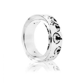Transparent Dandelion Resin Round Ring - TRANSPARENT 9