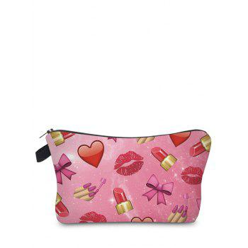 Emoji Printed Makeup Bag - ROSE RED ROSE RED