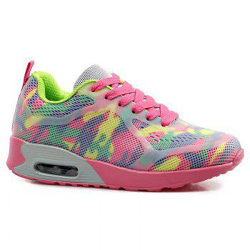 Air Cushion Floral Print Athletic Shoes