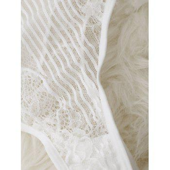 See Through Sexy Lace Teddy - WHITE WHITE