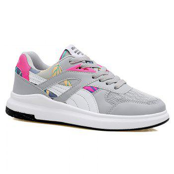 Color Block Low-top Mesh Athletic Shoes