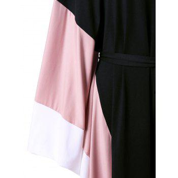 Batwing Sleeve Cut Out Wide Leg Jumpsuit - ONE SIZE ONE SIZE