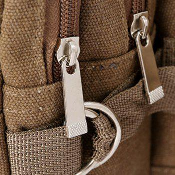 Casual Multi Zips Canvas Waist Bag - ARMY GREEN