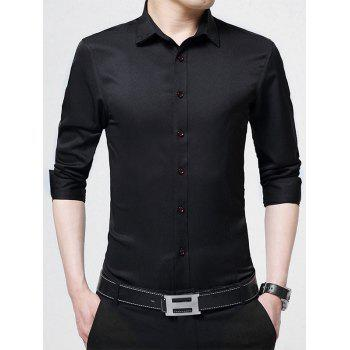Long Sleeve Embroidered Business Shirt