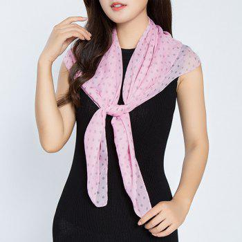 Full Polka Dot Printed Chiffon Square Scarf
