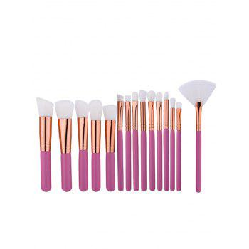 Multipurpose Nylon Makeup Brushes Set -  PINK