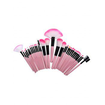 Aluminum Tube Beauty Makeup Brushes Set - PINK PINK