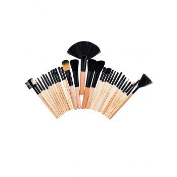 Aluminum Tube Beauty Makeup Brushes Set - WOOD WOOD