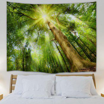 Sunshine Grove Decorative Tapestry Wall Art - YELLOW GREEN W51 INCH * L59 INCH