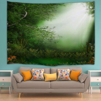 Dreamlike Forest Throw Dorm Decoration Wall Tapestry - GREEN W71 INCH * L91 INCH