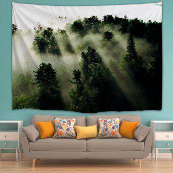 Mystic Forest Hanging Blanket Wall Art Tapestry - DEEP GREEN W59 INCH * L59 INCH