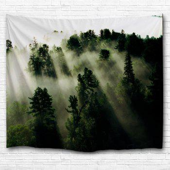Mystic Forest Hanging Blanket Wall Art Tapestry - DEEP GREEN DEEP GREEN