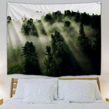 Mystic Forest Hanging Blanket Wall Art Tapestry - DEEP GREEN W59 INCH * L79 INCH