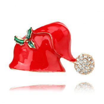 Rhinestones Christmas Hat Brooch