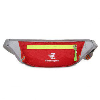 Color Block Light Weight Breathable Waist Bag - RED RED