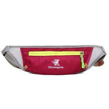 Color Block Light Weight Breathable Waist Bag - WINE RED WINE RED