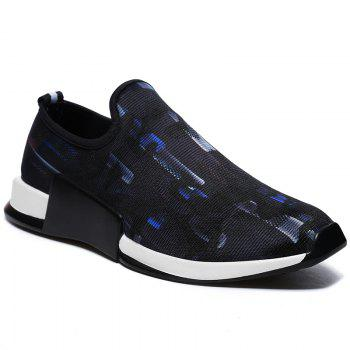 Mesh Colorblocked Slip On Athletic Shoes