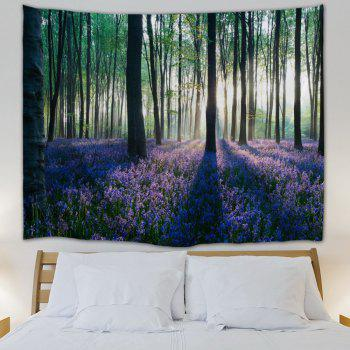 Forest Floral Print Tapestry Wall Hanging Art - COLORMIX COLORMIX