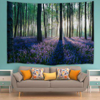 Forest Floral Print Tapestry Wall Hanging Art - COLORMIX W59 INCH * L79 INCH