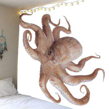 3D Octopus Printed Wall Tapestry