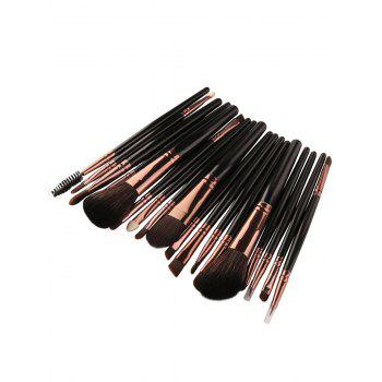 Ensemble de brosses de maquillage faciales multifonctions 18Pcs - Noir Marron