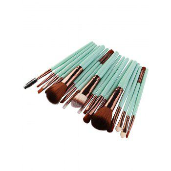 18Pcs Multipurpose Facial Makeup Brushes Set -  GREEN / BROWN