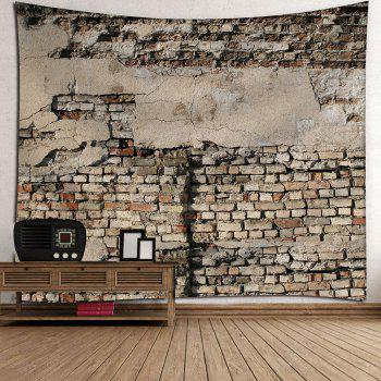 Mottled Brick Waterproof Velvet Wall HangingTapestry - BROWN W79 INCH * L71 INCH
