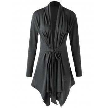 Asymmetrical Shawl Collar Draped Cardigan