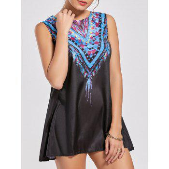 Ethnic Style Sleeveless Scoop Neck Printed Women's Dress