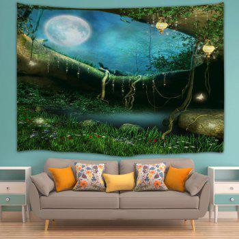 Wall Hanging Fairy Forest Home Decor Tapestry - GREEN W71 INCH * L91 INCH