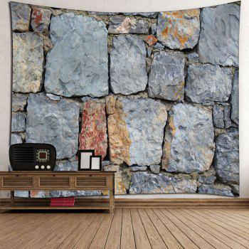Architectural Stone Waterproof Wall Tapestry - GRAY W59 INCH * L51 INCH