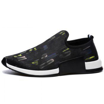 Mesh Colorblocked Slip On Athletic Shoes - YELLOW 44