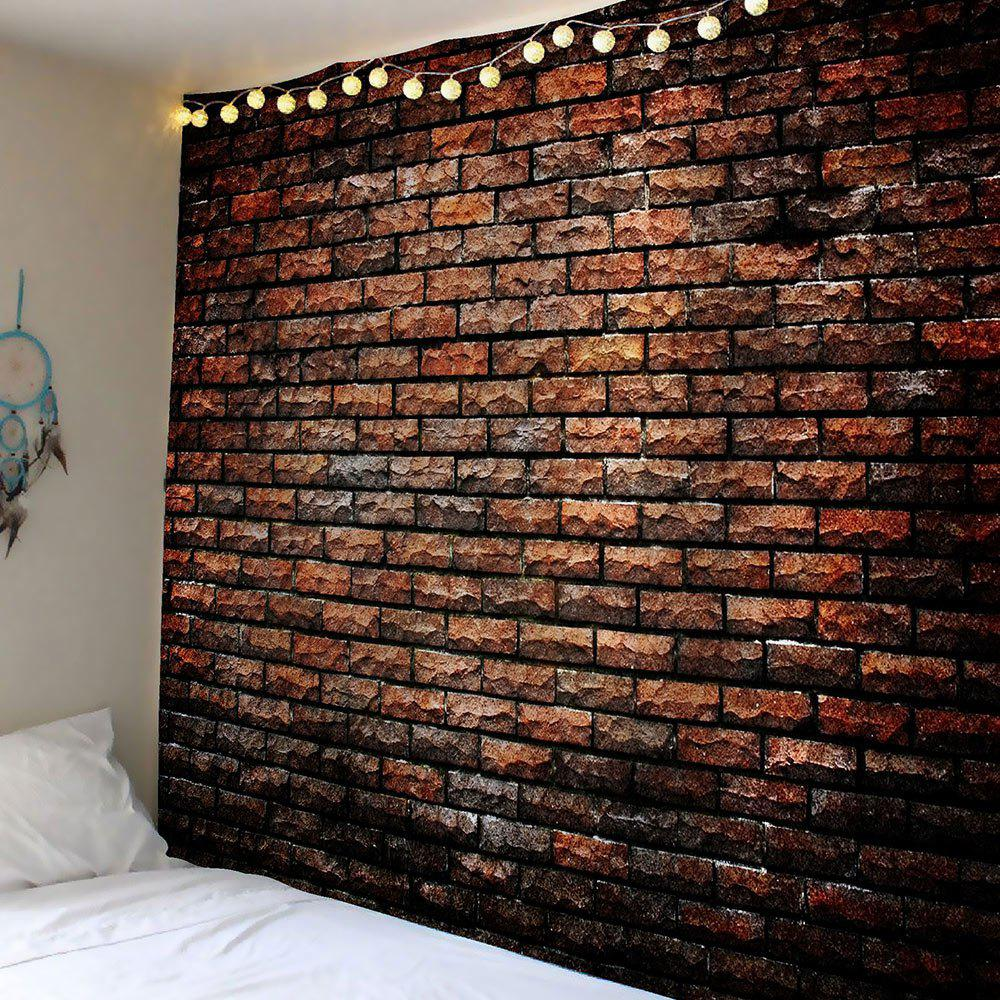 2018 natural stone brick print waterproof wall art tapestry deep brown w inch l inch in wall. Black Bedroom Furniture Sets. Home Design Ideas