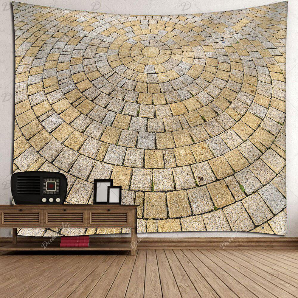 Wall Hanging Round Brick Print Waterproof Tapestry - GRAY W79 INCH * L59 INCH