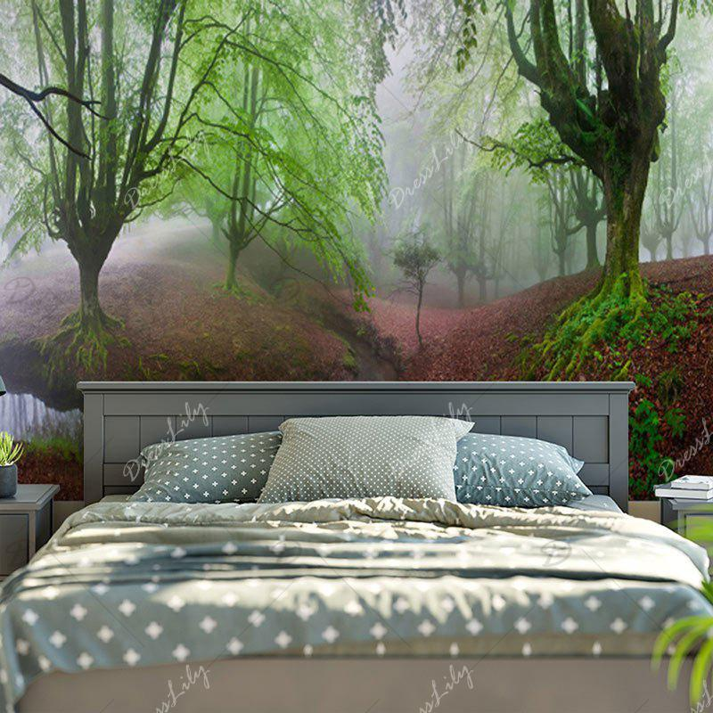 Decorated Wall Hanging Forest Print Tapestry - GREEN W59 INCH * L51 INCH