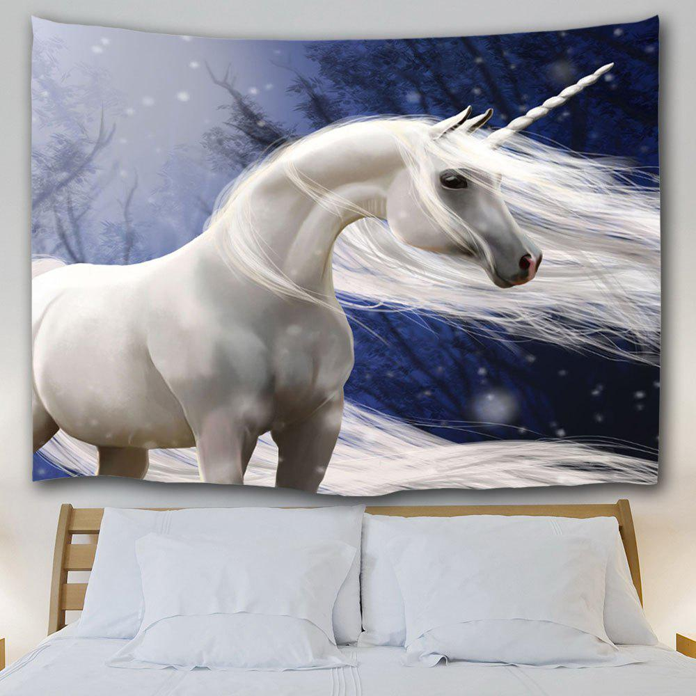 Wall Decoration Fabric Unicorn Tapestry - COLORMIX W59 INCH * L79 INCH
