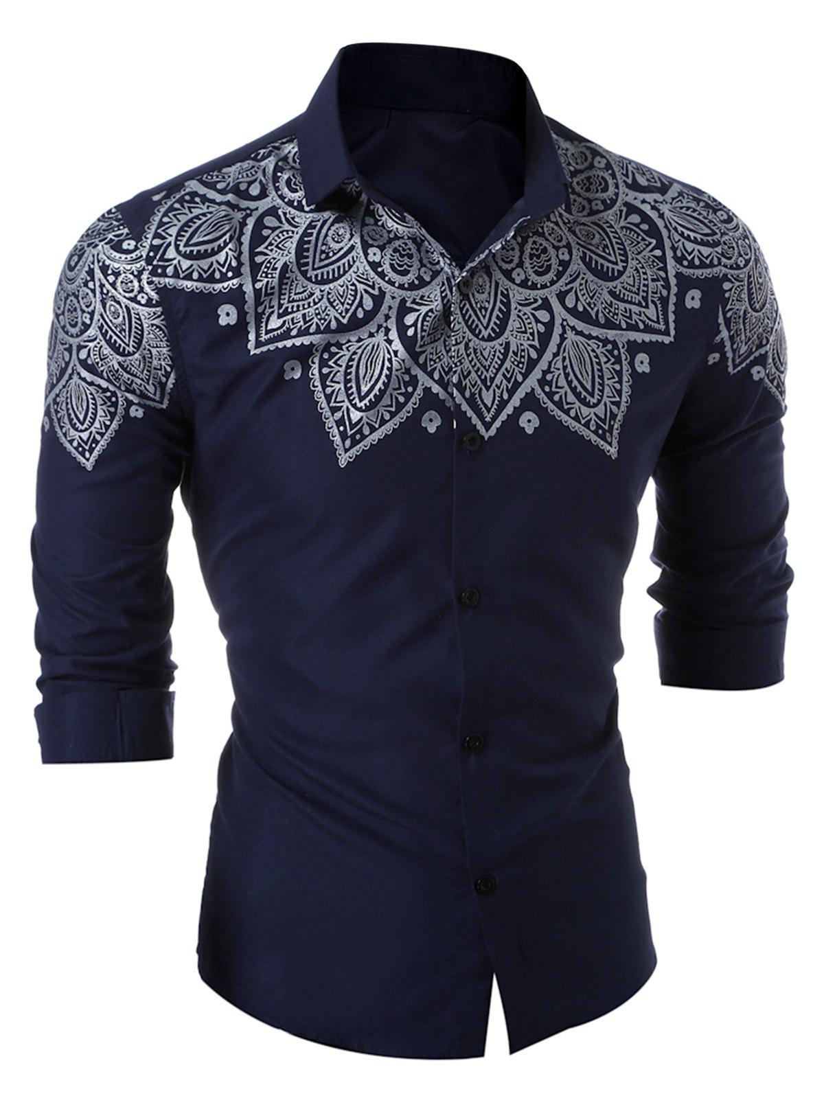 Slim Long Sleeve Printed Shirt