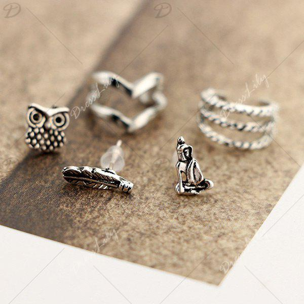 Ethnic Style 6 Pieces Ear Cuffs - SILVER