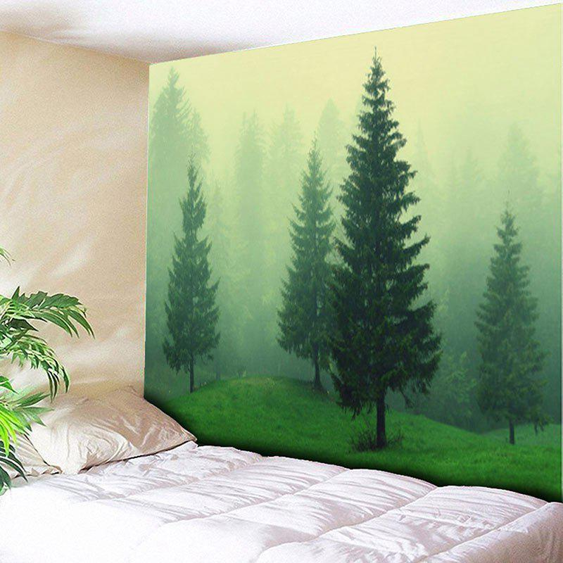 Fog Forest Printed Wall Hanging Tapestry fog forest printed wall hanging tapestry