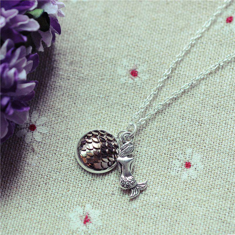 Sparkly Scales Mermaid Pendant Necklace - 2