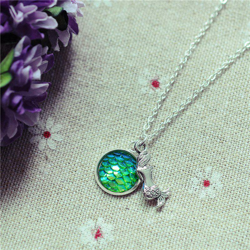 Sparkly Scales Mermaid Pendant Necklace - 3
