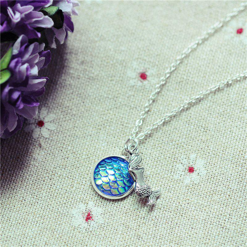 Sparkly Scales Mermaid Pendant Necklace -