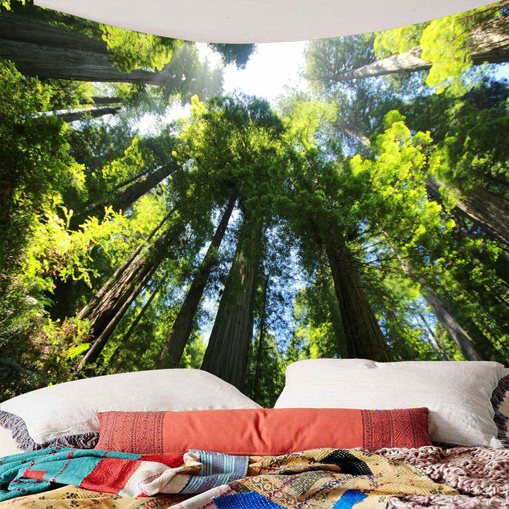 Tree Forest Waterproof Wall Tapestry - GREEN W79 INCH * L59 INCH