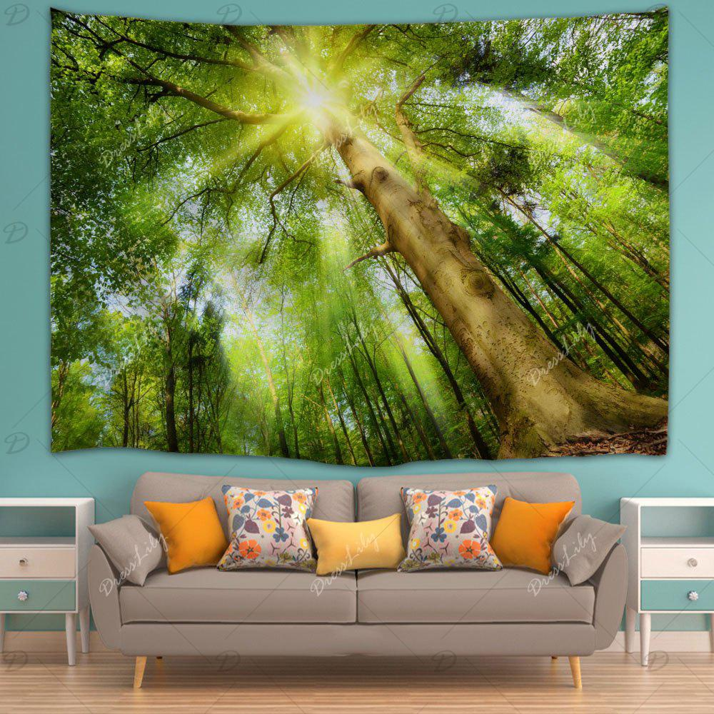 Sunshine Grove Decorative Tapestry Wall Art - YELLOW GREEN W59 INCH * L79 INCH