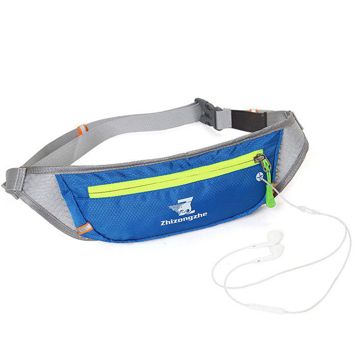 Color Block Light Weight Breathable Waist Bag - BLUE