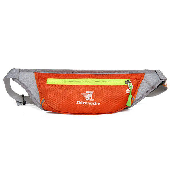 Color Block Light Weight Breathable Waist Bag - ORANGE