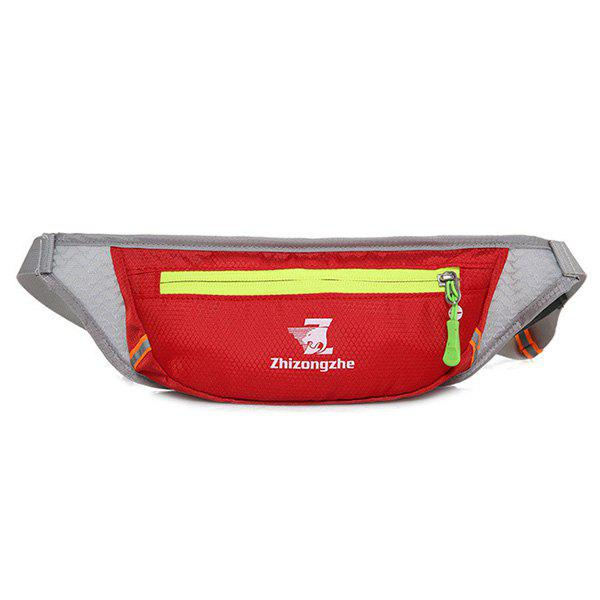 Color Block Light Weight Breathable Waist Bag - RED