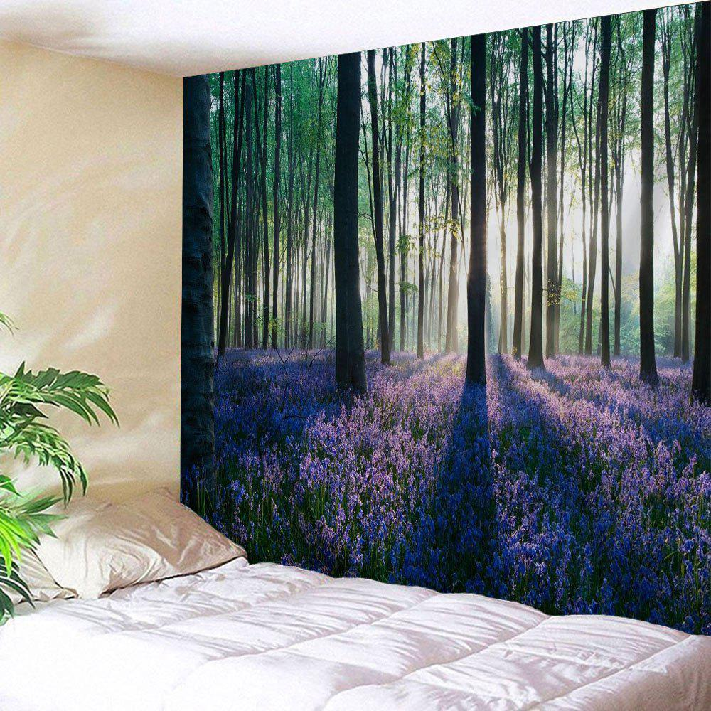 Forest Floral Print Tapestry Wall Hanging Art forest floral print tapestry wall hanging art