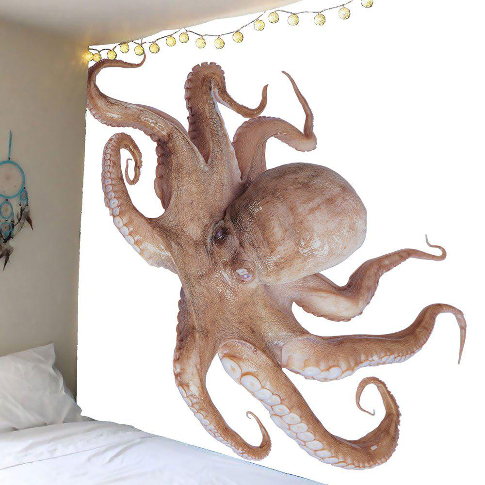 3D Octopus Printed Wall Tapestry - GRAY W59 INCH * L51 INCH