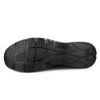 Letter Print Sole Low-top Mesh Athletic Shoes - BLACK GREY 41